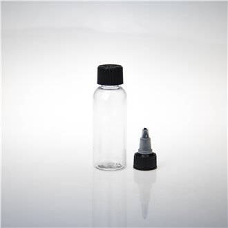 60ML PET Bottle w. Twist Off & Flat Cap
