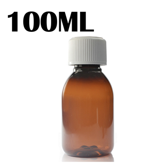 100ML Amber PET Bottle - Child & Tamperproof