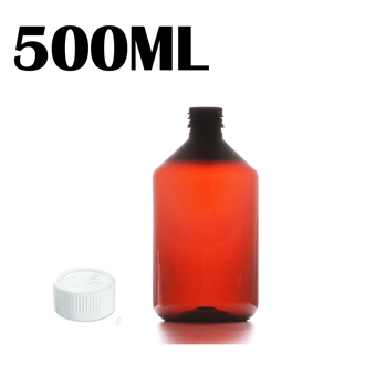 500ML Amber PET Bottle - Child & Tamperproof