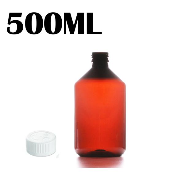500ML Amber PET Bottle - Child & Tamperproof