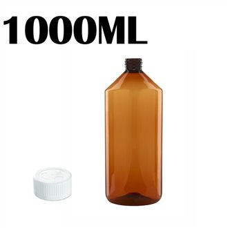 1000ML Amber PET Bottle - Child & Tamperproof